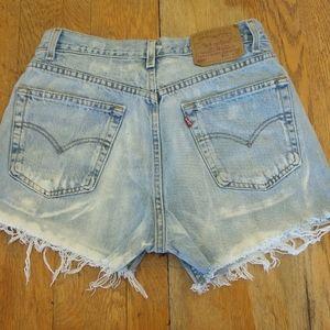 Vintage Levi cut off jeans shorts